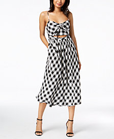 Bardot Printed Cutout Midi Dress