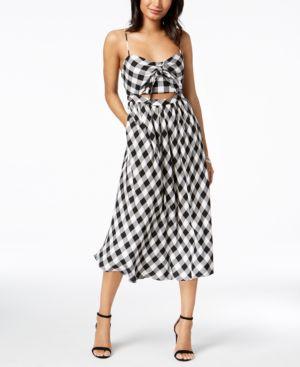 Bardot Printed Cutout Midi Dress