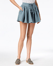 Free People Meet Your Match Lace-Up Flowy Shorts