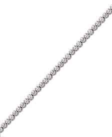Rose Gold-Tone Crystal Tennis Bracelet