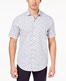 Tasso Elba Men's Printed Shirt, Created for Macy's
