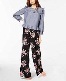 Jill Jill Stuart Ruffled Top & Wide-Leg Pants, Created for Macy's