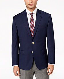 Lauren Ralph Lauren Men's Classic-Fit Ultra Tech Bright Navy Solid 10-Pocket Blazer