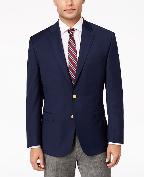 new arrivals 97b11 7ccd7 Lauren Ralph Lauren Men s Classic-Fit Ultra Tech Solid 10-Pocket Blazer ...