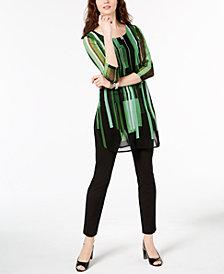 Alfani Printed Tunic & Slim-Leg Pants, Created for Macy's
