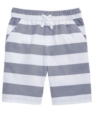 Rugby Stripe Cotton Shorts, Little Boys, Created for Macy's