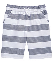 Epic Threads Rugby Stripe Cotton Shorts, Little Boys, Created for Macy's