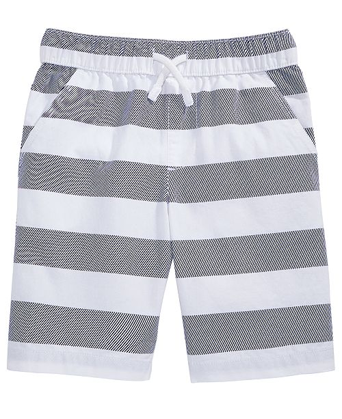 Epic Threads Rugby Stripe Cotton Shorts, Toddler Boys, Created for Macy's