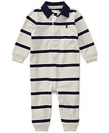 Ralph Lauren Baby Boys Striped Rugby Cotton Coverall