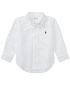 Ralph Lauren Baby Boys Solid Oxford Shirt