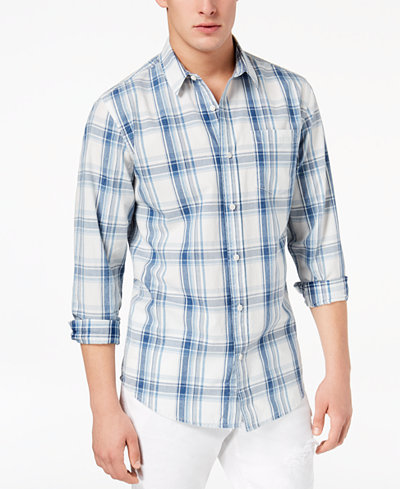 American Rag Men's Miles Plaid Shirt, Created for Macy's