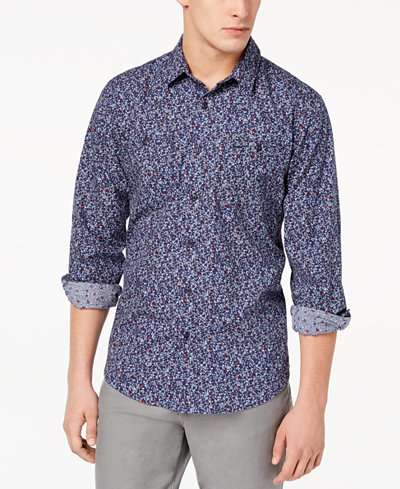 American Rag Men's Micro Floral Print Shirt, Created for Macy's