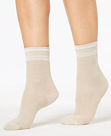 HUE® Women's  Sporty Mesh Socks