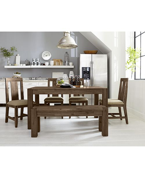 Richly Textured Acacia Wood With Butcherblock Joinery And Modified Parsons Lines Bring A Vibrant Update To The Rustic Inspired Canyon Small Dining Furniture