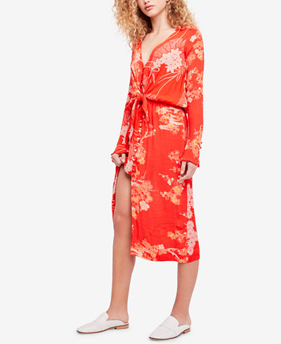 Free People Floral-Print Midi Dress