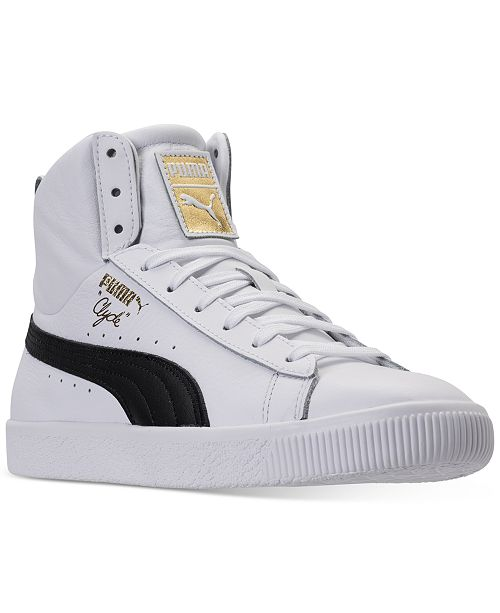 54f089fcc6f ... Puma Men s Clyde Core Mid Core Foil Casual Sneakers from Finish ...