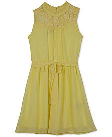 BCX High-Neck Fit & Flare Dress, Big Girls