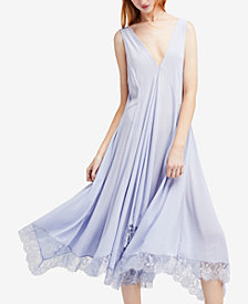 Free People Girl Like You Plunging Lace-Trim Slip Dress