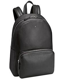 Black Italian Leather Backpack