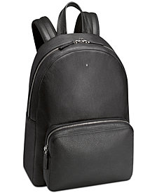 Montblanc Black Italian Leather Backpack