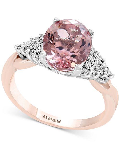 e037ccd7165bbe EFFY Collection Blush by EFFY® Morganite (2-1 2 ct. t.w.)   Diamond ...