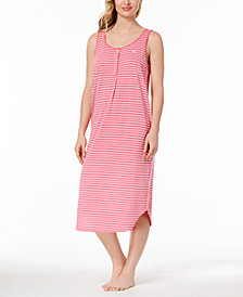 Lauren Ralph Lauren Fashion Knits Striped Nightgown