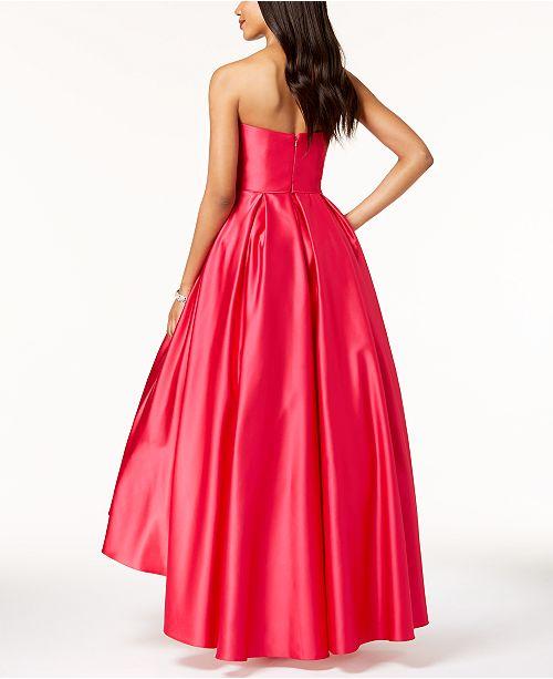 1b2d6b45d89 Betsy   Adam Strapless High-Low Ball Gown   Reviews - Dresses ...