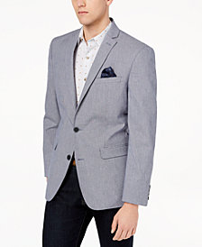 CLOSEOUT! Bar III Men's Slim-Fit Blue/White Mini-Check Sport Coat, Created for Macy's