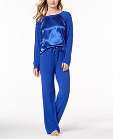 Lauren Ralph Lauren Woven Satin Pajama Set