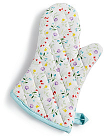 Martha Stewart Collection Flower Patch Oven Mitt, Created for Macy's