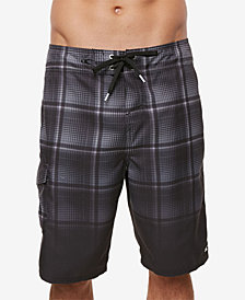 "O'Neill Men's Santa Cruz Ombré Plaid 21"" Board Shorts"
