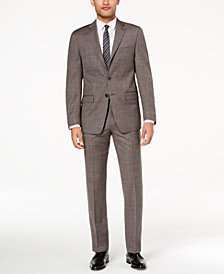 Calvin Klein Men's Slim-Fit Charcoal Neat Suit