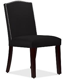 Callon Velvet Nail Button Dining Chair, Quick Ship