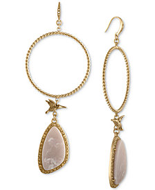 RACHEL Rachel Roy Gold-Tone Blush Chandelier Earrings