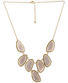 RACHEL Rachel Roy Gold-Tone Blush Stone Necklace