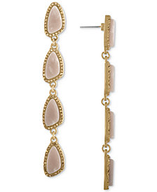 RACHEL Rachel Roy Gold-Tone Blush Stone Drop Earrings