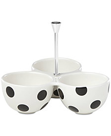 kate spade new york All in Good Taste Deco Dot 3-Part Divided Server Toppings Dish