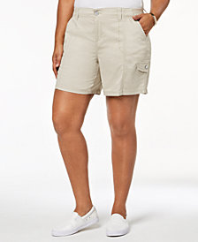 Style & Co Plus Size Cargo Shorts, Created for Macy's