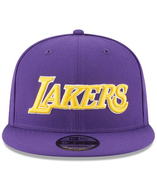 hot sale online e264a 58cbe ... New Era Los Angeles Lakers Statement Jersey Hook 9FIFTY Snapback Cap ...