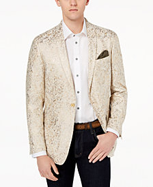 Tallia Orange Men's Big & Tall Modern-Fit Gold Metallic Dinner Jacket