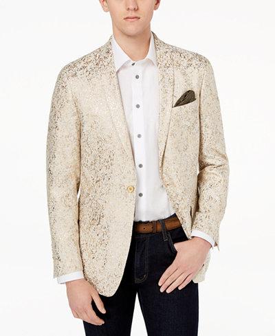 Tallia Orange Men's Big & Tall Modern-Fit Gold Metallic Dinner Jacket