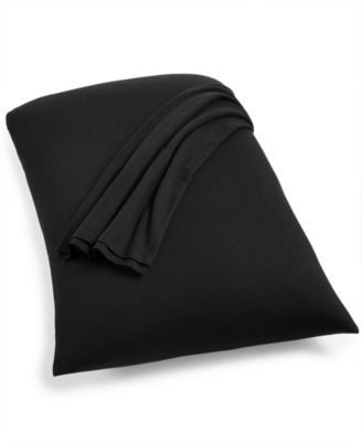 Harrison Black Standard Pillowcases