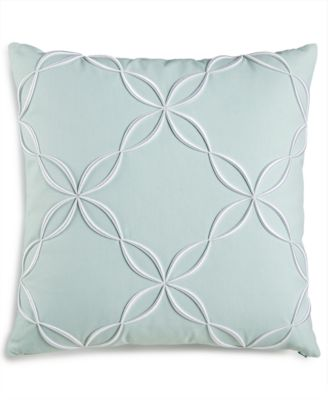 """CLOSEOUT! Outline Embroidered 18"""" Square Decorative Pillow, Created for Macy's"""
