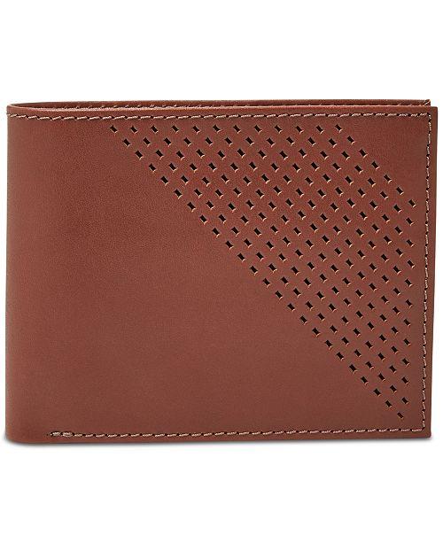 Fossil Men's Dom Leather Bifold Flip ID Wallet