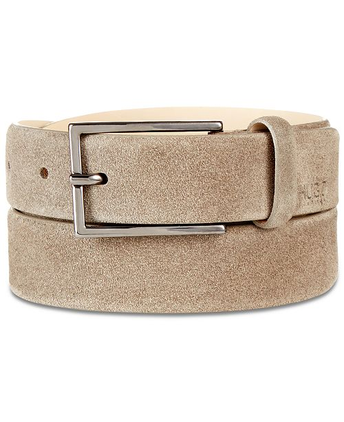 a014769f8f9 Hugo Boss Men s Gavrilo Suede Belt   Reviews - All Accessories - Men ...