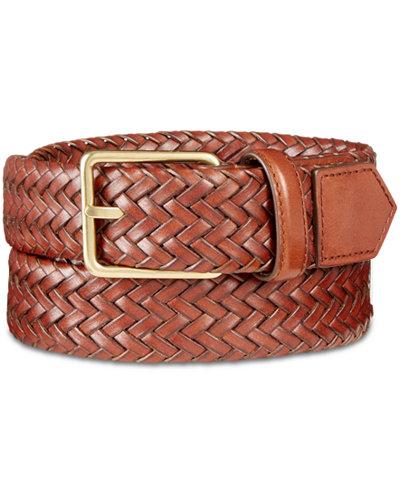 Cole Haan Men's Woven Leather Belt