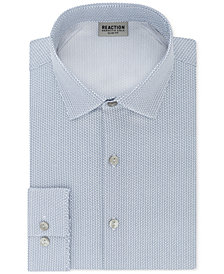 Kenneth Cole Reaction Men's Techni-Cole Slim-Fit Three-Way Stretch Performance Geometric Dress Shirt