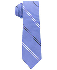 Tommy Hilfiger Men's Uptown Stripe Silk Slim Tie