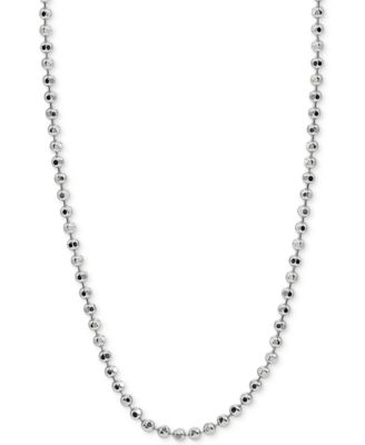 "24"" Beaded Chain Necklace in Sterling Silver, Created for Macy's"