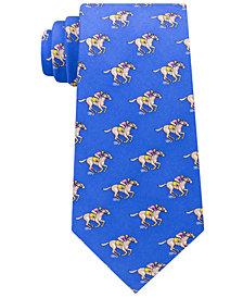 Tommy Hilfiger Men's Derby Racehorse Silk Tie